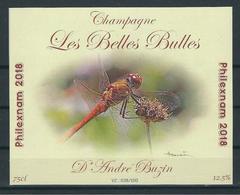 Etiquette Pour Bouteille De Champagne Philexnam 2018 à Ciney. - 1985-.. Birds (Buzin)