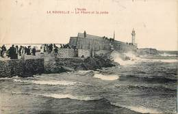 Lot 3 CPA 11 Aude LA NOUVELLE Le Phare Et La Jetée + Gare Maritime + Un Coup De Mer - Port La Nouvelle