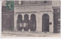 41 BLOIS Comptoir National D'Escompte De Paris ,façade Banque ,agence De Blois,envoyé à Mme Gagneuse Couturière à Truber - Blois