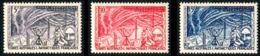 TAAF 1957 - Yv. 8 9 10 *   Cote= 19,50 EUR - Année Géophysique Internationale (3 Val.)  ..Réf.TAF21017 - Terres Australes Et Antarctiques Françaises (TAAF)