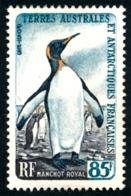 TAAF 1960 - Yv. 17 (*)   Cote= 32,50 EUR - Faune. Manchot Royal  ..Réf.TAF21020 - Terres Australes Et Antarctiques Françaises (TAAF)