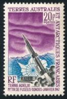 TAAF 1967 - Yv. 23 (*)   Cote= 41,00 EUR - 1er Tir De Fusée-sonde  ..Réf.TAF21023 - Terres Australes Et Antarctiques Françaises (TAAF)
