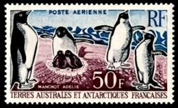 TAAF 1963 - Yv. PA 5 *   Cote= 60,00 EUR - Faune. Manchots Adélie  ..Réf.TAF21026 - Poste Aérienne