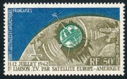 TAAF 1963 - Yv. PA 6 *   Cote= 40,00 EUR - Liaison TV Par Satellite  ..Réf.TAF21027 - Poste Aérienne