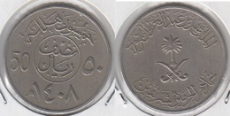Saudi Arabia 50 Halalas 1987 (5th King Fahd) KM#64 - Used - Saudi Arabia
