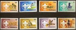 Rwanda 1983 OCBn° 1141-1148  *** MNH Cote 15,00 Euro Scoutisme Padvinders - 1980-89: Neufs