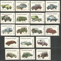 Russia USSR 1985 Year , 18 Matchbox Labels  Cars - Boites D'allumettes - Etiquettes