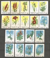 Russia USSR 1983 Year , 18 Matchbox Labels  Flowers - Boites D'allumettes - Etiquettes