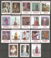 Russia USSR 1987 Year , 18 Matchbox Labels - Boites D'allumettes - Etiquettes