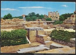 SICILIA - AGRIGENTO - ZONA ARCHEOLOGICA - VIAGGIATA 1971 DA CASTELVETRANO - Agrigento