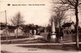 Bersac - Monument Aux Morts & Place Du Champ De Foire - édit Desbrugères - Autres Communes