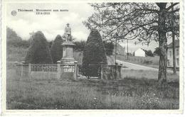 THIRIMONT - BEAUMONT : Monument Aux Morts 1914 - 1918 - CPA PEU COURANTE Cachet De La Poste 1956 - Beaumont