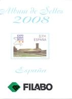 España - Suplemento FILABO Año 2008 - Montado Con Filaestuches Transparentes - 13 Hojas - - Pre-Impresas