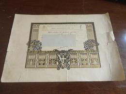 ATTESTATO DI PRIMO GRADO ANNO SCOLASTICO 1928-1929-PALERMO - Diplomi E Pagelle