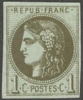 France Yvert 39B (*) Sans Gomme 4 Marges TB Sans Défaut Cote EUR 200  (numéro Du Lot 459G) - 1870 Emisión De Bordeaux