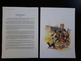 Affiche : Les Français Au Canada, Royal Roussillon Infanterie 1759 BAT De Québec - Documenten