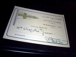 Cartes De Membre Club Nautique Des Saints Peyres A Mazamet Tarn Annèe 19?? CNSP - Sports