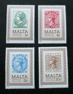 MALTA, 1985, Postal Centenary 4v  MNH - Malte