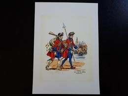 Affiche : France 1740 Régiment Suisse De KARRER LouisBourg - Documents