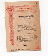 Bordeaux (33 Gironde) Programme GRAND CAFE ANGLAIS (pub FEUILLANTINE Au Recto) (PPP17229) - Programmes