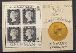 ISLE OF MAN, 1990, 150 Years Stamps S/s   MNH Stamp World London'90 - Man (Ile De)