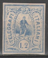 ITALIA 1864 - Saggi Hummel - L. 2 Azzurro - Firmato          (g5514) - 1861-78 Victor Emmanuel II.