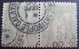 DF50500/426 - SAGE (PAIRE) Cachet De CONSTANTINOPLE GALATA (TURQUIE) 1er SEPTEMBRE 1900 - 1876-1878 Sage (Type I)