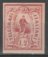 ITALIA 1864 - Saggi Hummel - L. 2 Rosso - Firmato          (g5515) - 1861-78 Victor Emmanuel II.