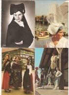FOLKLORE : Lot De 65 Cartes Postales : Costumes, Coiffes, Danses...Bretagne, Landes, Alsace, Savoie, Anjou, Vendée.... - Otros