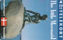 Denmark, TS 019B, The Little Mermaid, Mint 50 Kr, Only 1.000 Issued, 2 Scans. - Danimarca