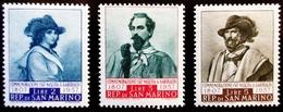 1957 Saint Marin / San Marino Yt 437, 438, 439 .  Giuseppe Garibaldi . Neufs Traces Charnières - Saint-Marin