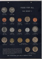 FAO Food For All Set Fao Money N°1 Set 19 Monete UNC Diverse LEBANON SIRYA MADAGASCAR INDIA ....... - Autres Monnaies