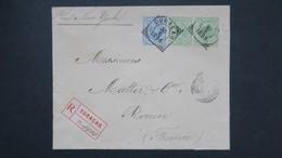 Curaçao Lettre Recommandé 1896 Pour Rouen France , 1896 Registered Cover From Curaçao To France ( Rouen ) - Curaçao, Antilles Neérlandaises, Aruba