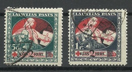 LATVIA Lettland 1921 Michel 67 - 68 Z O - Letland