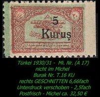 Luftfahrt - (Mi. Nr. A 17) - Burak T. 16 KU - 1921-... Republik