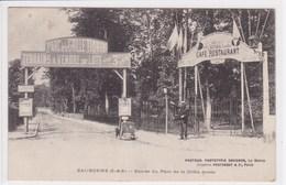 95 EAUBONNE  Entrée Du Parc De La Grille Dorée Avec Enseigne Terrains à Vendre ,enseigne Café Restaurant - Eaubonne