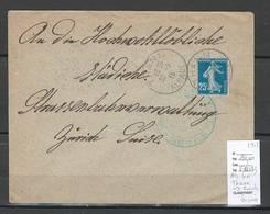 France - Lettre Alsace Lorraine - THANN - 1915 Pour Zurich - Suisse - Censurée - Poststempel (Briefe)