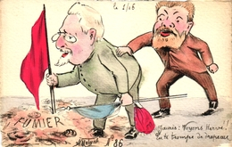 Frankreich, Politische Satire, Sign. Molynk - Satirische