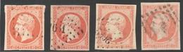 France Yvert 16,16a,16b,16j Oblit. TB Luxe Sans Défaut Cote EUR 112  (numéro Du Lot 468C) - 1853-1860 Napoleon III