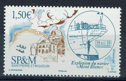 """Saint Pierre And Miquelon, Halifax Explosion, French Ship """"Mont-Blanc"""", 2017, MNH VF - Unused Stamps"""