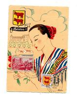 Carte Cachet Pau Sur Pau Beran  Vue Folklore - Storia Postale