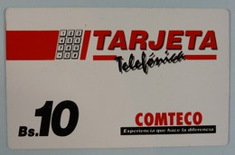 BOLIVIA - Inductive - BOL-COM-2 - Trial Card Comteco - 1996 - 20U - Mint - Bolivië