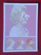 POSTAL POST CARD CARTE POSTALE MAGGIE MARGARET TATCHER POLITIC POLITICAL SATIRE SÁTIRA THE HEN OF ENGLAND GALLINA VER FO - Sátiras