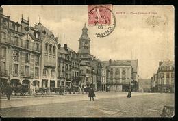 51  REIMS  Place Drouet D'Erlon  Cpa Voyagée En 1906  Plan Animé Avec Les Fiacres Et Les Chevaux - Reims