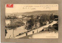 CPA - SAINT-LAURENT (88) - Aspect De L'entrée Du Bourg Par La Route De Golbey Le Long De La Moselle En 1908 - Otros Municipios