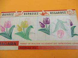 Nouveau Jeu/Impression Lavable/ Niagara/ Ouvrez Repassez Regardez/Vers 1930-1950                   JE209 - Autres