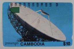 CAMBODIA - $10 - Anritsu - Used - Cambodia