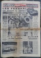 24 Heures Du Mans 1960.Ferrari.DB Panhard.Rivière,Tour De France.Saint-Pierre-la-Vieille.Trippault,Romorantin. - Newspapers