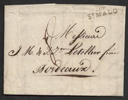 1809 - LAC - 34 ST. MALO A BORDEAUX - Contenu Intéressant: Achat De Vin - Letellier Frères - 1801-1848: Précurseurs XIX