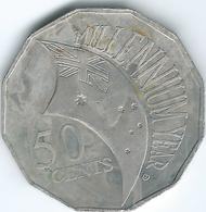 Australia - Elizabeth II - 2000 - 50 Cents - Millennium - KM488.1 - Decimal Coinage (1966-...)